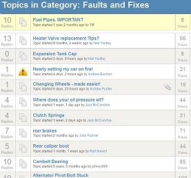 Faults and Fixes Forum